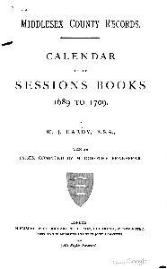 Middlesex County Sessions Book 1689-1709 Frontispiece