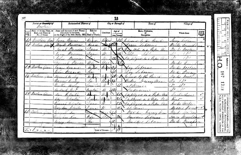 Rippington (Ann nee Gould) 1851 Census