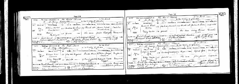 Rippington (Florence) 1905 Marriage Record