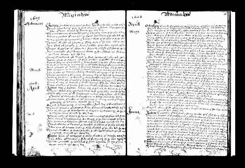 Rippington (Walsnigham) 1604 Marriage Record